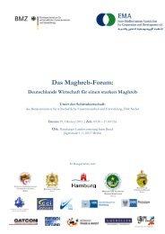 Das Maghreb-Forum: - EMA