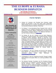 the europe & eurasia business dispatch - American Chamber of ...