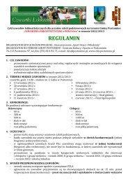 regulamin 2012-2013 - Centrum Kultury i Sportu w Postominie
