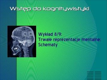 Wyk?ad 8/9: Trwa?e reprezentacje mentalne; Schematy Wst?p do ...