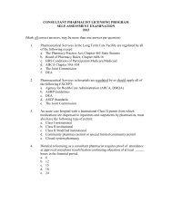 CONSULTANT PHARMACIST LICENSING PROGRAM