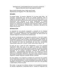 INTEGRACION LATINOAMERICANA EN UN NUEVO CONTEXTO ...