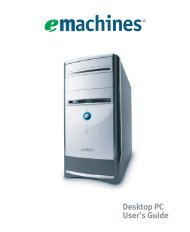 eMachines Desktop PC User Guide - Gateway
