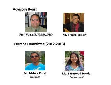 Current Commi6ee (2012‐2013) Advisory Board