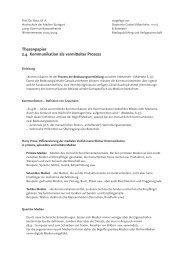 Thesenpapier 2.4 Kommunikation als vermittelter Prozess
