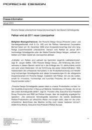 Pressemitteilung - Porsche Design