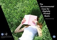 The environmental case for digitally printed books— a life cycle ... - HP