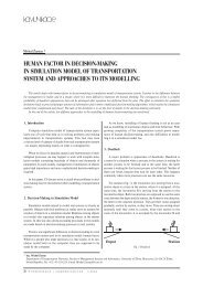 human factor in decision-making in simulation model of ...
