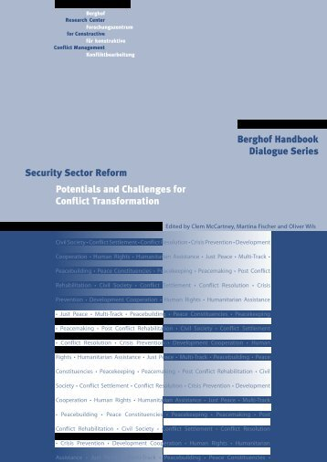 Security Sector Reform Potentials and Challenges for Conflict ...