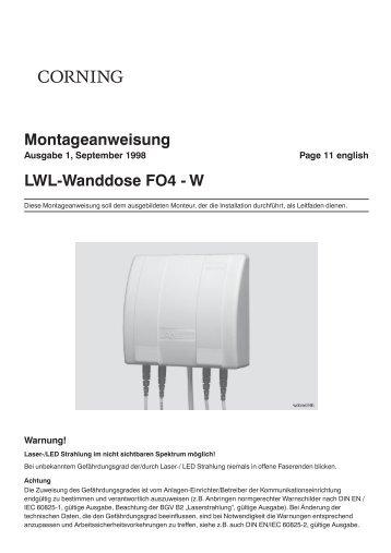 Montageanweisung LWL-Wanddose FO4 - W