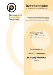 Download Curriculum SO - Studienbeginn ab WS 2011/12