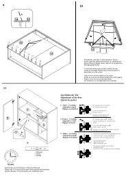 Ausrichten der Tür Adjustment of the door Ajustez les portes