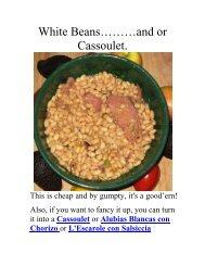 White Beans - The Geriatric Gourmet