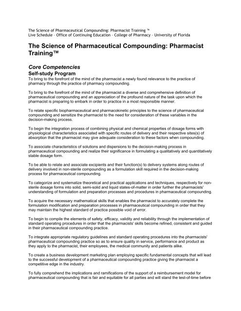 The Science of Pharmaceutical Compounding - College of ...