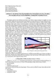 aspekty techniczno ekonomiczne wykorzystania wybra - MANHAZ