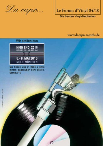 Le Forum d´Vinyl Ausgabe April 2010 - Da capo