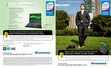 IDEAS THAT ARE LIGHT ON YOUR WALLET. AND ... - Lenovo   US