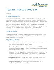 the California Tourism Industry Website