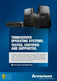 thinkserver operating systems. tested, certified and supported.