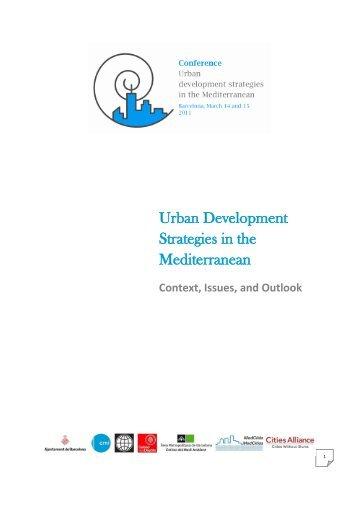 Urban Development Strategies in the Mediterranean Report ... - CMI