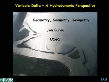 a Hydrodynamic Perspective - Dr. Jon Burau, U. S. Geological Survey