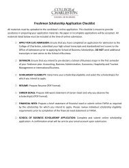 Application Checklist and Instructions - School of Business - College ...