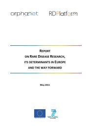 report on rare disease research, its determinants in ... - Orphanet