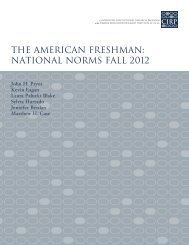 The American Freshman: National Norms Fall 2012 - Higher ...
