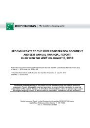 Update of the registration document - BNP Paribas
