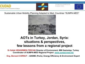 AOTs in Turkey, Jordan, Syria: situations & perspectives, few ... - CMI