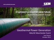 SKM Geothermal Presentation to IMechE - Near You