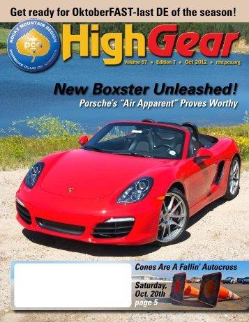 New Boxster Unleashed! - Rocky Mountain Region Porsche Club ...