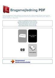 Brugsanvisning HP PSC 2110 ALL-IN-ONE - Brugervejledning