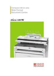 Ricoh Aficio 480W Brochure
