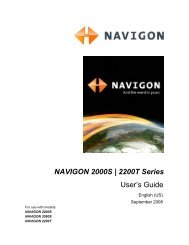 NAVIGON 2000S | 2200T Series User Guide - TigerDirect.com