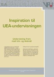 Inspiration til UEA-undervisningen - UU Center Kolding