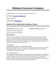 Midwest Insurance Company - College of Business