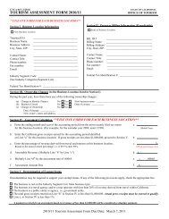 2010/11 Tourism Assessment Form - the California Tourism Industry ...