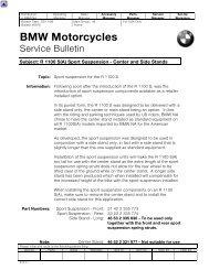 BMW R100 Mystic 93-96 Brembo Bremssattel Vorne Dichtung Reparatur Set 1995 1996