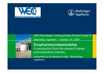 Ecopharmacostewardship