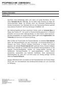 Presse-Information Geschenkideen für jeden ... - Porsche Design - Page 2