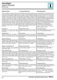 Genel Bilgiler General Information - Stoewer-Getriebe.de
