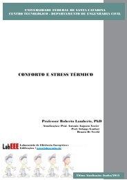 CONFORTO E STRESS TÉRMICO - Laboratório de Eficiência ...