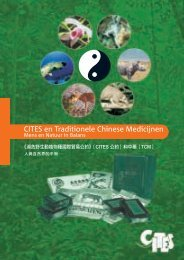 CITES en Traditionele Chinese Medicijnen, Mens en Natuur in ...