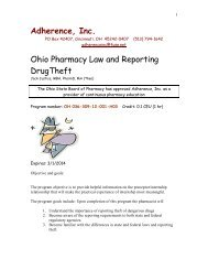Ohio Pharmacy Law and Reporting Drug Theft - Fuse.net