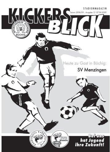 SV Menzingen - SV Kickers Büchig