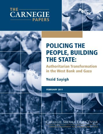 Policing the People, Building the State - Carnegie Endowment for ...