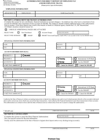 Direct Deposit Signup/Change Form - Paychex