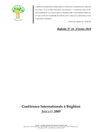 conference internationale a brighton - Orphanet