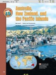 Australia, New Zealand, and the Pacific Islands Australia, New ...